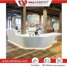 Tufted Reception Desk 2017 Solid Surface Semi Circle Reception Desk L Shaped Reception