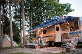 Solar Rv Awning Lights See This Vintage Airstream Transformed Into A Beautiful Getaway