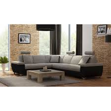 canapé d angle noir simili cuir canapé d angle réversible en tissu et simili cuir coloris beige et