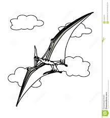 flying dinosaur coloring page stock illustration image 87362255