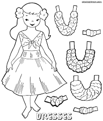 coloring pages dresses fabulous detailed printable coloring pages