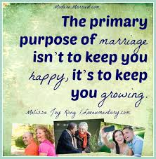 after marriage quotes marriage quote the primary purpose of marriage isn t to keep you