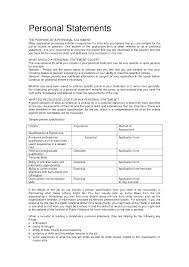Personal Summary Resume Sample by Personal Statement Application Job