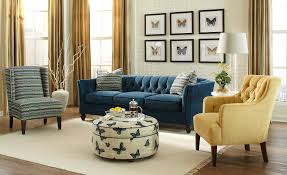 Tufted Living Room Furniture by Great Navy Tufted Sofa 65 For Living Room Sofa Ideas With Navy