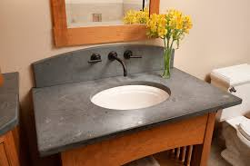 terrific design ideas with granite bathroom vanity countertops agreeable decorating ideas using silver single hole faucets and black quartz countertops also with round white