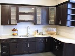 kitchen cabinet kitchen dark espresso cabinets with green