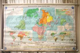 Us Map Political Reclaimed Vintage Denoyergeppert Visual Relief Map Of United