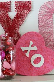 Valentines Decoration Ideas With Paper by Valentine Decorating Hugs And Kisses Mantel Hoosier Homemade