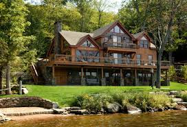 lake front home designs 2 new at best picture of large log cabin