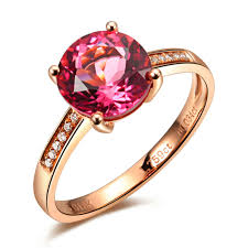 gem gold rings images Luxury gvbori 18k rose gold ring inlaid with red tourmaline jpg