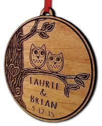 newlywed ornament owl birds