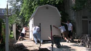 How To Build A Small Garden Tool Shed by How To Turn And Move A Shed By Hand Youtube
