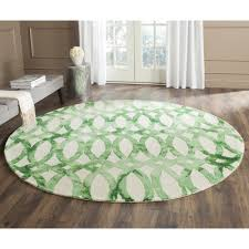 Gray Green Rug Living Room Round Green 8x8 Modern Polypropylene Casablanca Area
