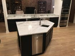 bianca carrara marble countertops in kitchen