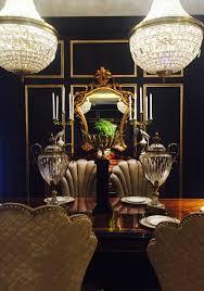 alissa sutton interiors black walls black and gold dining room