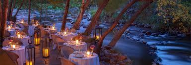 White Oak Rum On A Table Cress On Oak Creek Sedona Fine Dining L U0027auberge De Sedona