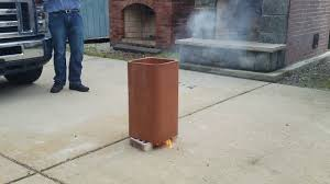 simulated chimney fire in a clay flue liner youtube