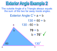 Interior Exterior Angles Exterior Angle Of A Triangle Passy U0027s World Of Mathematics
