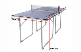 ping pong table dimensions inches joola midsize table tennis table review