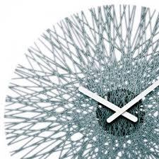 Unusual Wall Clocks by Koziol Silk Wall Clock Anthracite Black By Design