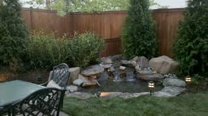 beautiful building a backyard waterfall pictures gallery home design
