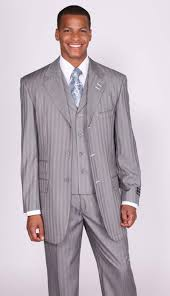 light gray vested suit product gp0678 light gray stripe pinstripe lapel vested c