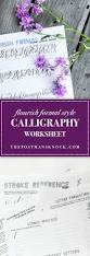 flourish formal style calligraphy worksheet the postman u0027s knock
