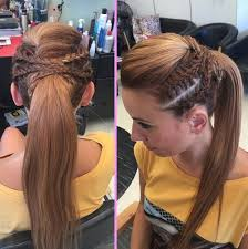 layer hair with ponytail at crown 19 pretty ways to try french braid ponytails crown braids