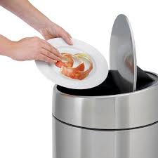 kitchen trash can stainless steel contemporary slide