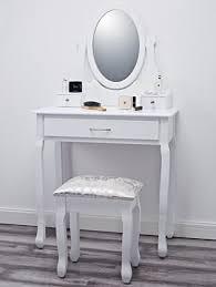 coiffeuse blanche si e avec miroir inclus amalfi agtc0009 coiffeuse en bois blanche avec tabouret et miroir inclus