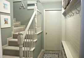 Small Hall Design by Interior Design Snazzy White Wooden Handle Banister Rails Stairs