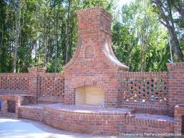 ideas u0026 tips an outdoor isokern fireplace with brick wall ideas
