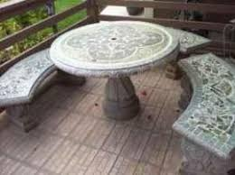 Cement Patio Table Move A Concrete Patio Table And Benches To Vallejo