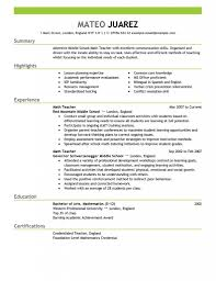 resume examples resume templates teachers format objective