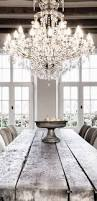 Glamorous Chandeliers Glamorous Chandelier With A Wooden Farm Table Interior Decor Home