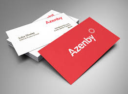 Red Business Cards Azenby Business Card U2013 Digital Graphic Design Inspiration