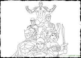 justice league coloring page eliolera com