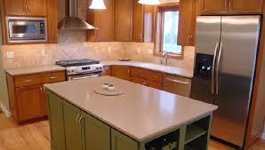 Refinish Corian Countertop Cherry With Custom Color Painted Island And Corian Countertops