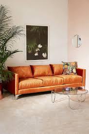 best orange sofa ideas on pinterest velvet urban outfitters living