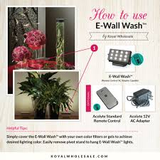 e wall wash superbright lighting w 60 led lights remote control