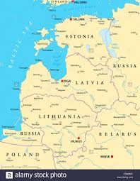Map States And Capitals by Baltic Countries Political Map Baltic States Area With Capitals