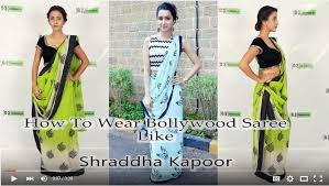 How To Drape A Gujarati Style Saree How To Wear Saree Like Shraddha Kapoor Video Tutorial