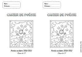 Page de garde  Cahier de poésie CPCE1CE2CM1CM2  Fée des écoles