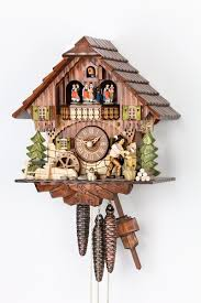 Blue Cuckoo Clock 1 Day Musical Wood Chopper Cuckoo Hekas 3705
