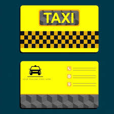Car Name Card Design Taxi Name Card Template Yellow Design Car Icon Free Vector In