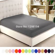 King Single Bed Linen - aliexpress com buy home textile solid color sheets fitted bed