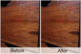 How To Repair Laminate Floor How To Seal Wood Scratches With A Walnut 5 Steps With Pictures