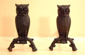 price my item value of victorian cast iron owl fireplace andirons