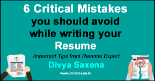 avoiding resume mistakes 6 mistakes you should avoid while writing your resume great tips