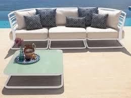 m canapé marcel m canapé modulaire emu 3 places en métal avec coussins